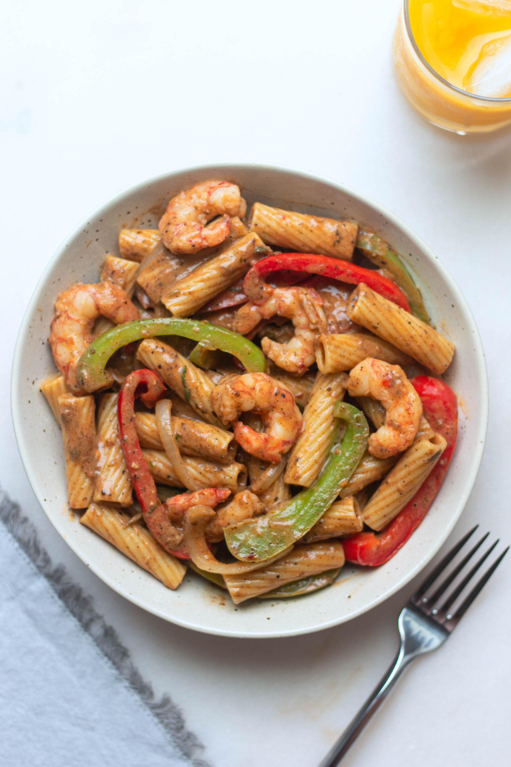 Shrimp Rasta Pasta Sweet Sorrel